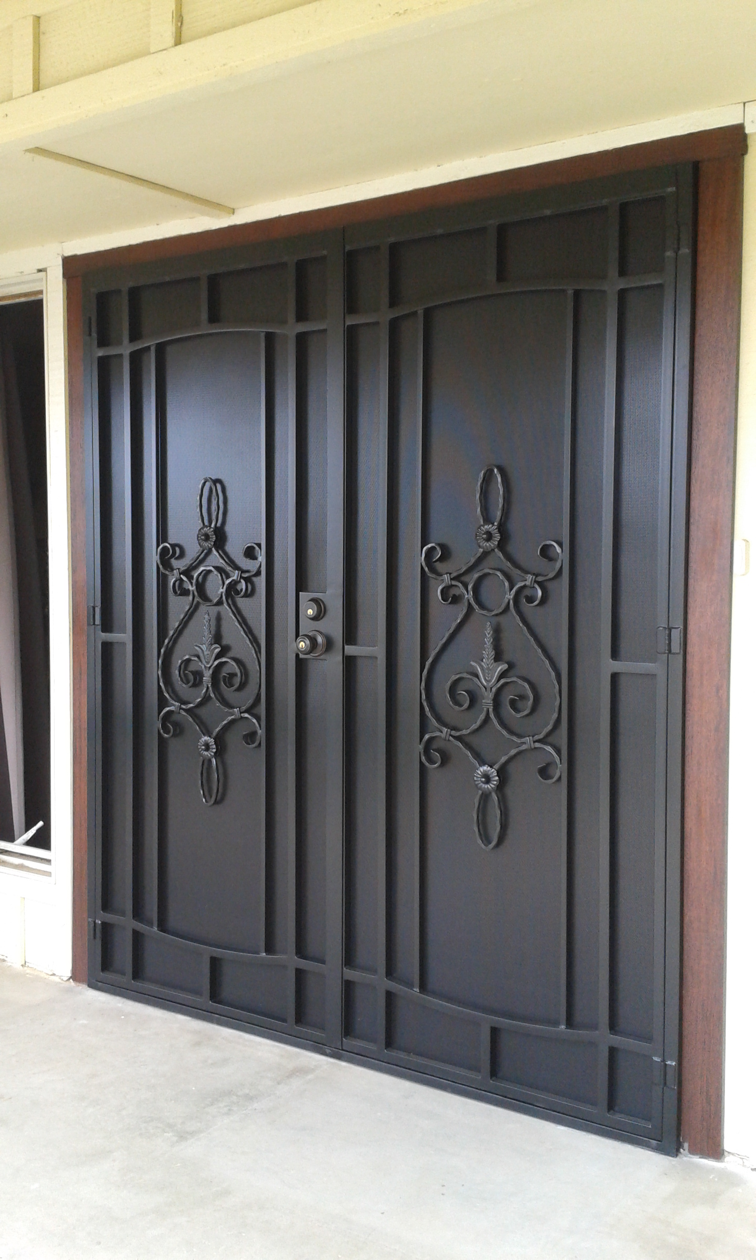 Condoors security for Security doors for french doors